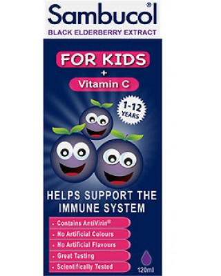 Sambucol Black Elderberry For Kids with Vitamin C