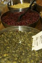 Goji Berries and Pumpkin Seeds: Just a glimpse of our extensive, delicious range of berries , seeds and nuts