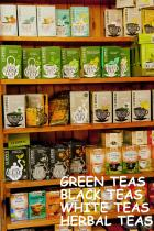 A great range of Herbal Teas , Fruit Infusions , cafeine free Rooibos and antioxidant rich Green & White Teas