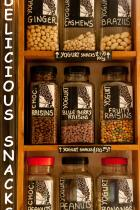 Quality delicious snacks: roasted nuts , yoghurt or chocolate coated fruits, nuts and berries