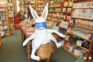 Paul's Easter Bunny shopping at Spill the Beans!