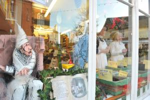 West Street window display celebrating Charles Dickens Centenary as part of West Street's event 2012  'What the Dickens is going on in West Street?'