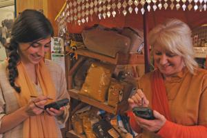 Checking out our new technology during Wimborne's Dawli celebrations in November